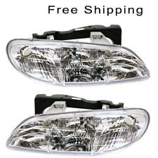 Halogen Head Lamp Assembly Set of 2 LH & RH Side Fits 1996-1998 Pontiac Grand Am
