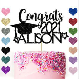 Personalised Cake Topper Congrats Graduation Celebration Student Class of 2021