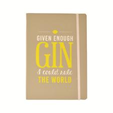 Gin O'clock Gin Rule The World Notebook G&T Gift Idea