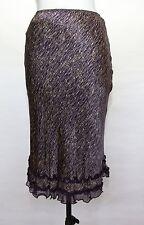 Rebecca Taylor silk ruffled hem print fall skirt. Size 4.