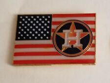 HOUSTON ASTROS UNITED STATES FLAG LAPEL PIN - BLUE LOGO VERSION