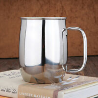1000ml Large Capacity Stainless Steel Double Wall Coffee Beer Mug Water Cup Gift