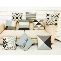 Geometric 18inch Cotton Pillow Case Waist Throw Cushion Cover Fashion Sofa Decor