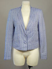 Noa Noa cotton blend blue and white floral blazer jacket size M
