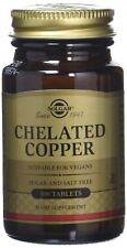 Solgar Chelated Copper Tablets Pack Of 100 Support Skin Bones Food Supplement