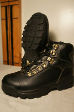 NEW Raichle Mens 8 Black Leather Hiking Mountaineering Boots Backpacking      g8