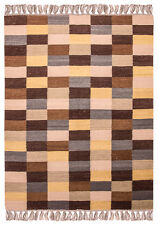 Handwebteppich Patchwork Kelim Ca. 200 x 140cm Natur Kurzflor Handgewebt  Wolle