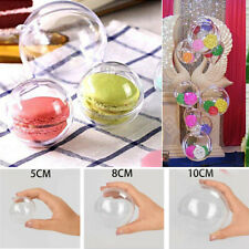 40PCS Clear Plastic Acrylic Craft Christmas Tree Ball Sphere Baubles Decor