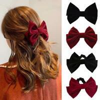 1 * Samt Bowknot Mit Clip Frauen Mädchen Elegante Fliege Haarnadel Haarspange