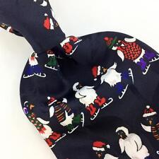 ADDICTION PENGUIN SANTA BLACK WHITE Christmas Men's Necktie tie #XP1-228 New