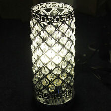Modern Crystal Table Lamp UK Plug With Dimmer Switch Bedroom Lights Decor 9787hc Silver