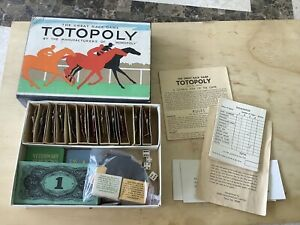 Totopoly.Missing Board ,otherwise looks complete.1950s version with small box.
