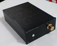 JC229 Black Full Aluminum Power amplifier case preamp amp chassis gold knob -sn