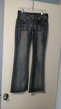 Wallflower Blue Distressed Bootcut Jeans Size 5