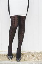 Bonnie Doon Strumpfhose Good Old Lace Tights Gr XL  ITALY Neu Trend Muster Black