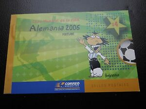K148 ARGENTINA WORLD CUP FOOTBALL GERMANY 2006  RARE  BOOKLET+SET+FDC+S/S MNH