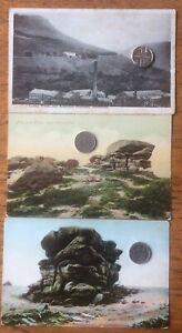Antique Postcards Greenfield Cotton Works & Alderman Mountain Lancashire