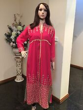 "42"" L Kurthi Kurti Jeans Top Tunic Kaftan Bollywood Indian Kurthy Rusty Pink K24"