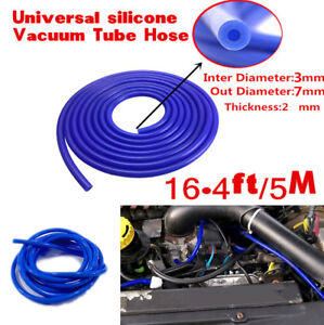 3MM 16.4ft 5M Silicone Vacuum Hose Silicon Pipe Tube Air Water Coolant Turbo Car