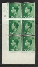 ½d Edward Viii A36 Cylinder Block - 12 Dot with variety Unmounted Mint