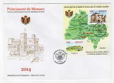 MONACO FDC FEUILLET oblitéré 2014 le Carlades Cantalien /B1FDC