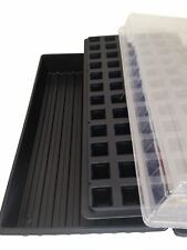 Seed Starting Kit, Solid Seed Tray, 72 Cell Plug tray, Dome Lid, Germination Kit