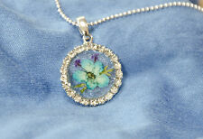 HAND MADE JEWELLERY, REAL FLOWERS  PENDANT-(ROUND)
