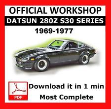 Official Workshop Manual Service Repair Datsun 280z S30 Series 1969 - 1977