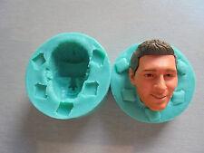 Silicone Mould 3D MESSI HEAD Sugarcraft Cake Decorating Fondant / fimo mold