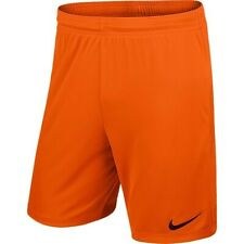 Nike Mens Park Football Short Gym Training Shorts Dri Fit Short Orange SMALL