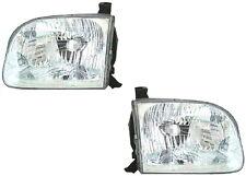 Sequoia Tundra Double Cab Left & Right Headlight Headlamp Light Lamp Pair L+R