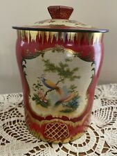 Vintage George W. Horner & Co. Decorative Tin With Lid Floral/Birds