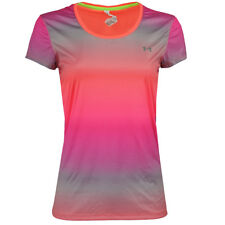 Under Armour Women's UA Flyweight T-Shirt Pinkish Gradient M