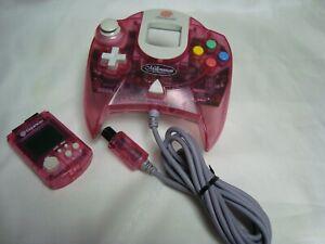 SEGA Dreamcast Pink Millennium Controller & VMU Visual Memory DC US Seller