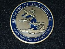 927th Air Refueling Wing End of Tour Michigan January 1963 - 2009 Challenge Coin