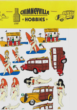Chimneyville 1707 Beach Themes Low Riders Decal Sheet 1/24 and 1/25
