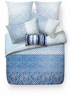 ESPRIT Indigo Blue 256TC 100% Cotton SINGLE Size Quilt Doona Cover Set