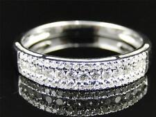 Ladies Womens White Gold Diamond Round Cut Wedding Band Engagement Ring .36 Ct