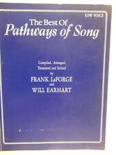 vocal The Best of PATHWAYS OF SONG low voice