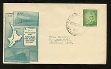 RAILWAY TPO NEW ZEALAND 1958 ILLUSTRATED COVER + CANCEL