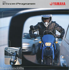 Yamaha Prospekt 2005 brochure 125 Cygnus X DT XT R YBR Motorrad Roller Broschüre