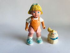 FISHER PRICE Loving Family Dollhouse Doll Figures Blonde Girl & Cat 1995