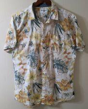 Billabong Men's Short Sleeve Button Up Hawaiian Shirt Large