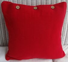 SCATTER CUSHION COVER 40 x 40CM - RED -  PLAIN DYED THROW PILLOW CUSHION COVER
