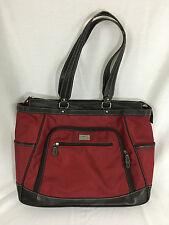 Clark & Mayfield Red 18 Inch Laptop Handbag Briefcase Tote