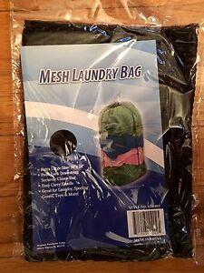 "LOT OF 2 EXTRA LARGE MESH LAUNDRY BAGS (24"" X 36"") DRAWSTRING CLOTHES NYLON XL"