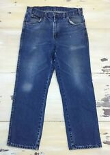 DICKIES - Faded Whiskered Distressed Straight Workwear Blue Jeans, Mens 32 x 30