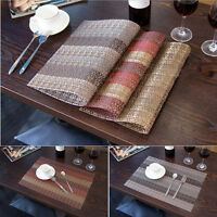 Set of 6 PVC Insulation Bowl Tableware Placemats Place Mat Table Dining Room