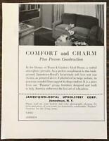 1936 Jamestown Royal Upholstery NY Print Ad Comfort and Charm