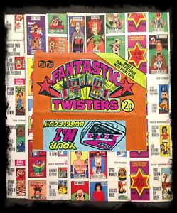"""1972 A&BC Fantastic Twisters 2p Wax Gum Wrapper """"BAZOOKA"""" Advert Variant - FCC"""